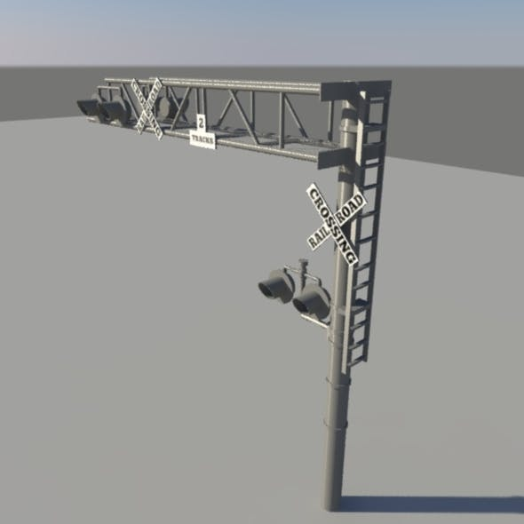 Rail Road Stand - 3DOcean Item for Sale