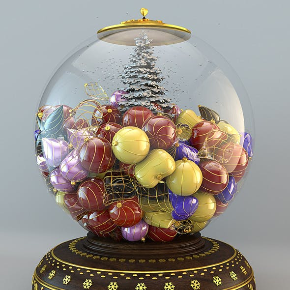Snow Globe Christmas Hi-Res - 3DOcean Item for Sale