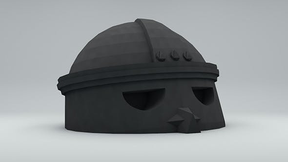 Low poly ancient head 2 RockerMau - 3DOcean Item for Sale