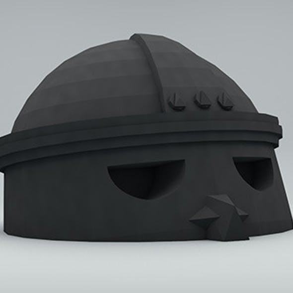 Low poly ancient head 2 RockerMau