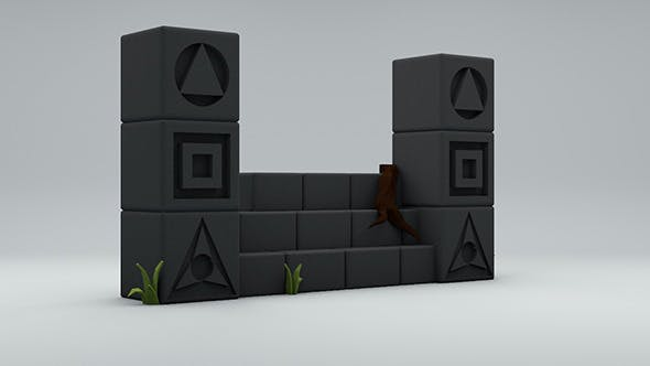 Low Poly Ancient Structure - 3DOcean Item for Sale