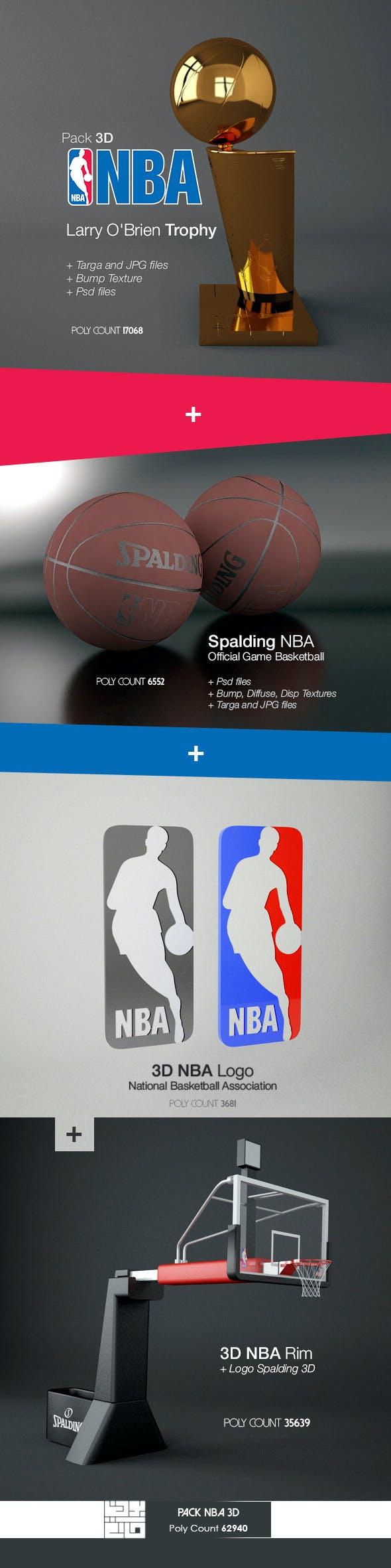 Pack NBA 3D - 3DOcean Item for Sale