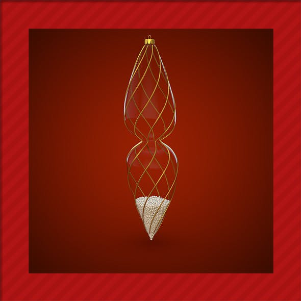 HiRes Christmas Decoration 2 - 3DOcean Item for Sale