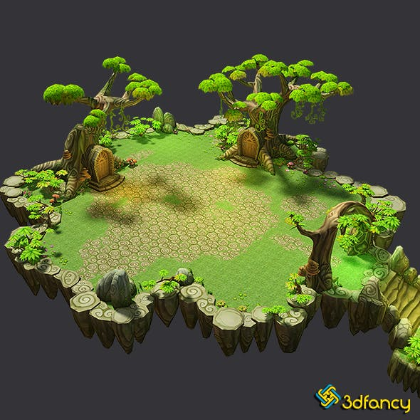 Floating Islands - Fantasy Environment Pack - 3DOcean Item for Sale