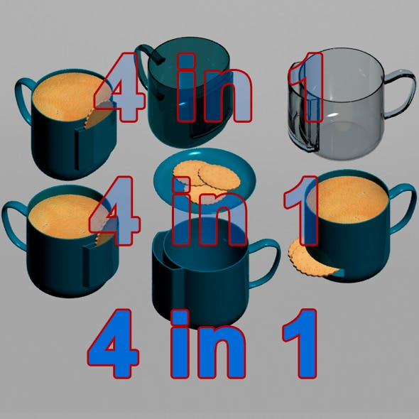 Cups 4 in 1 with Pockets