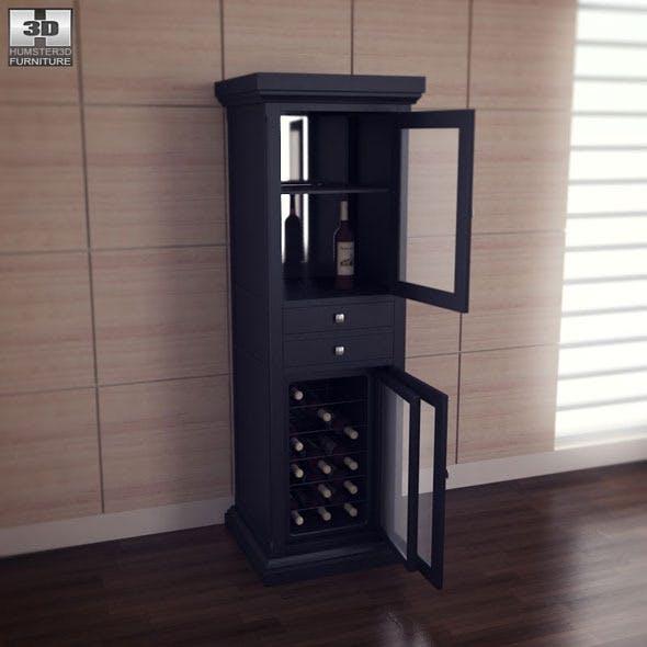 Meridian Wine Curio in Espresso - Classic Flame - 3DOcean Item for Sale