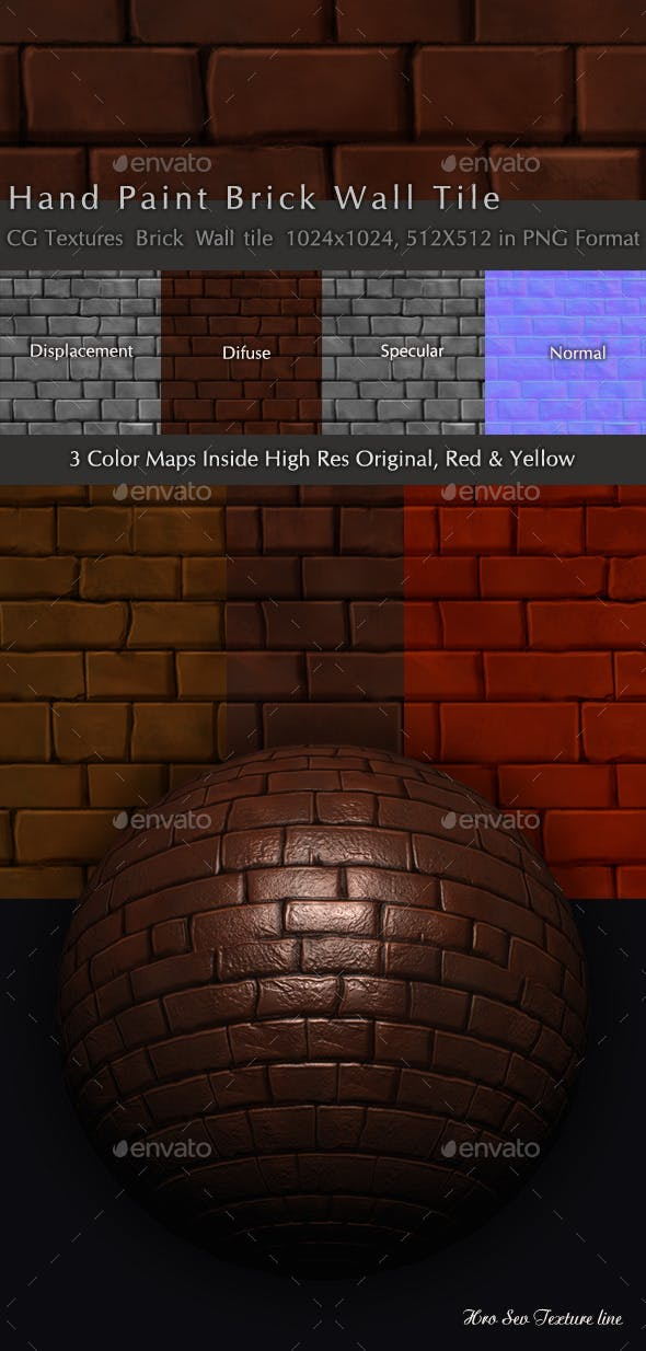 Brick Wall Texture Pack B1 - 3DOcean Item for Sale