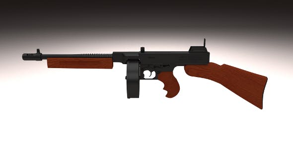 Thompson 1928 Submachine gun - 3DOcean Item for Sale