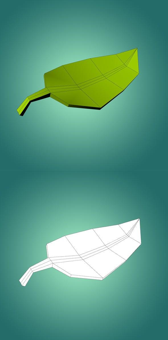 Low Ply Leaf 3D Model - 3DOcean Item for Sale