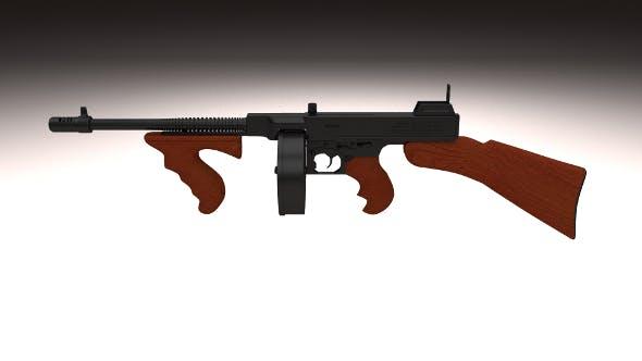 Thompson 1928 Tommy Gun - 3DOcean Item for Sale