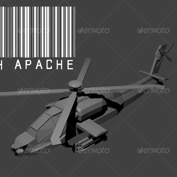AH-64 Apache Lowpoly model - 3DOcean Item for Sale