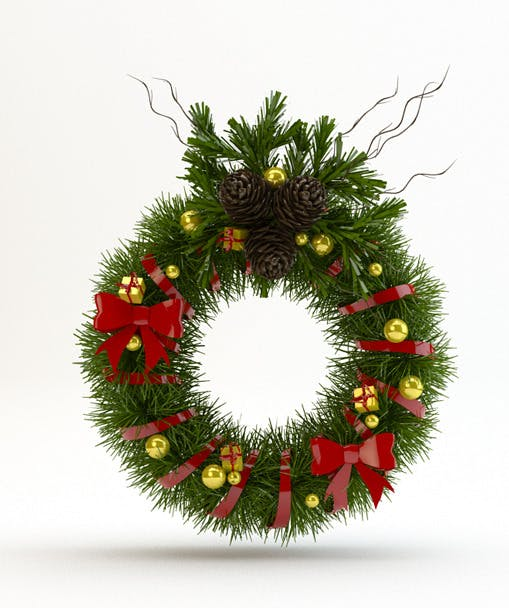 Christmas Door Decoration - 3DOcean Item for Sale