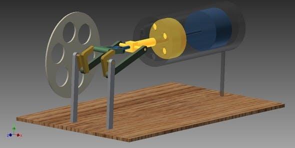 Stirling engine - 3DOcean Item for Sale