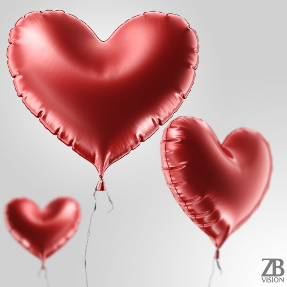 Heart Balloon - 3DOcean Item for Sale
