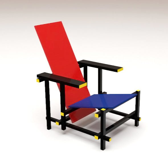 The Red and Blue Chair - 3DOcean Item for Sale