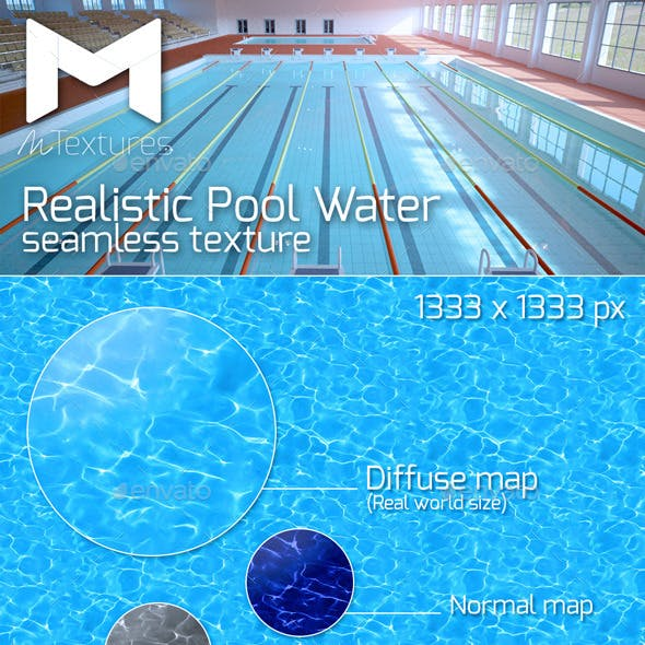 Realistic Pool Water Texture