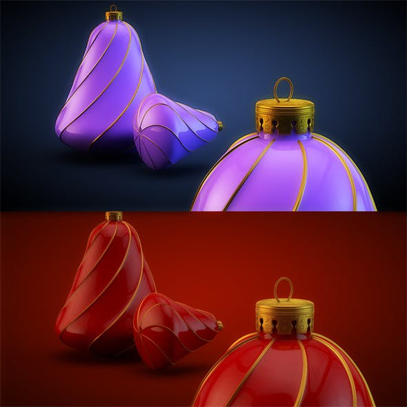 Christmas Decoration HiRes 14 - 3DOcean Item for Sale