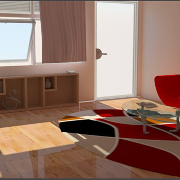Living Room V-ray setup