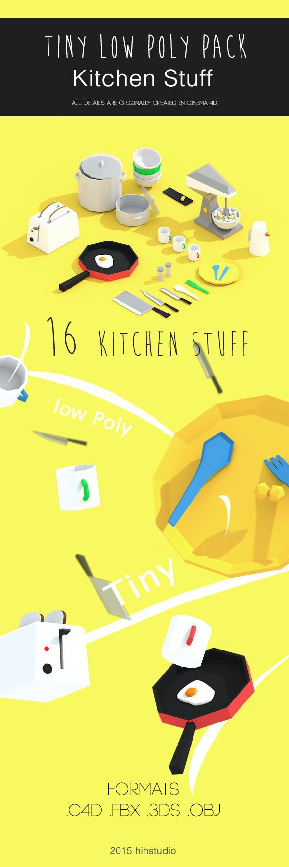 Tiny Kitchen Pack - 3DOcean Item for Sale