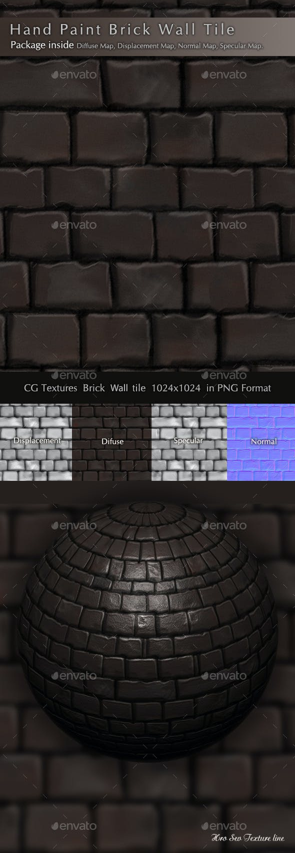 Brick Wall Texture Pack B2 - 3DOcean Item for Sale