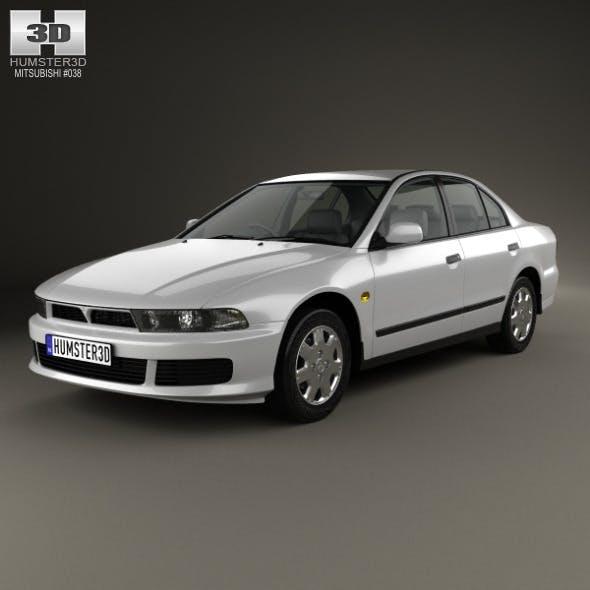 Mitsubishi Galant sedan 1996 - 3DOcean Item for Sale