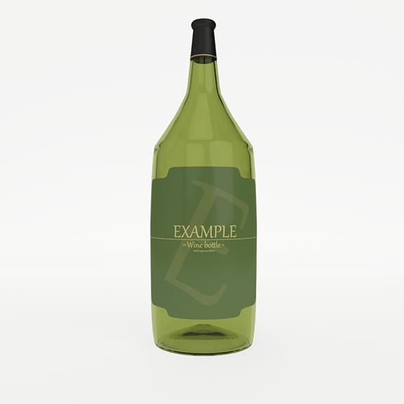 Winebottle - 3DOcean Item for Sale
