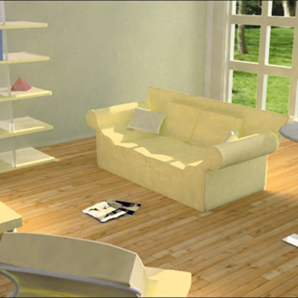 Living room 2 with v-ray setup