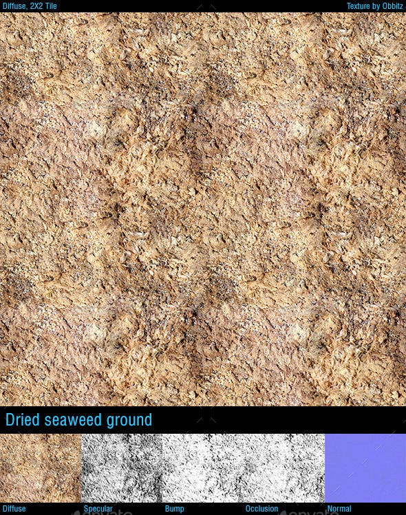 Dried seaweed ground - 3DOcean Item for Sale