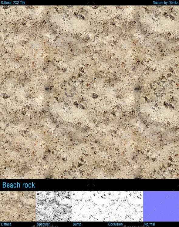 Smooth beach rock - 3DOcean Item for Sale