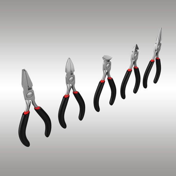 Pliers Set - 3DOcean Item for Sale