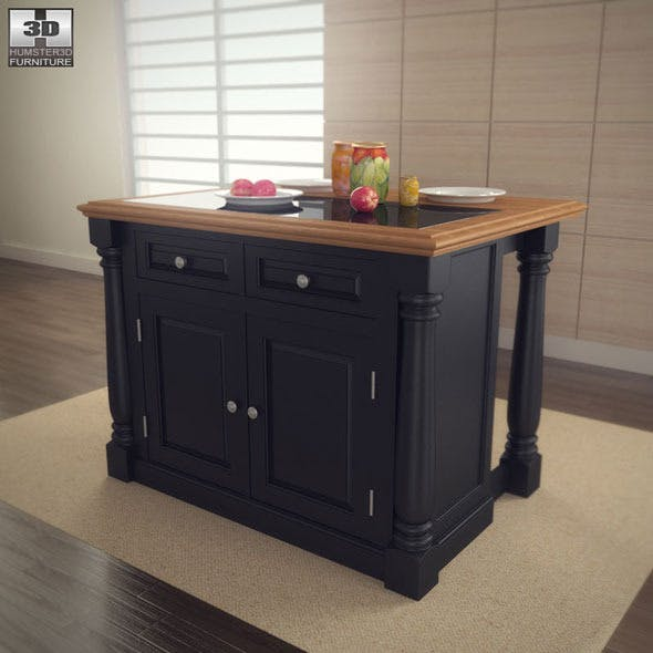 Monarch Kitchen Island - Home Styles - 3DOcean Item for Sale