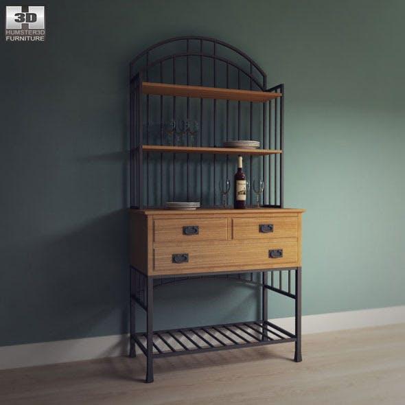 Oak Hill Buffet Server  - Home Styles - 3DOcean Item for Sale
