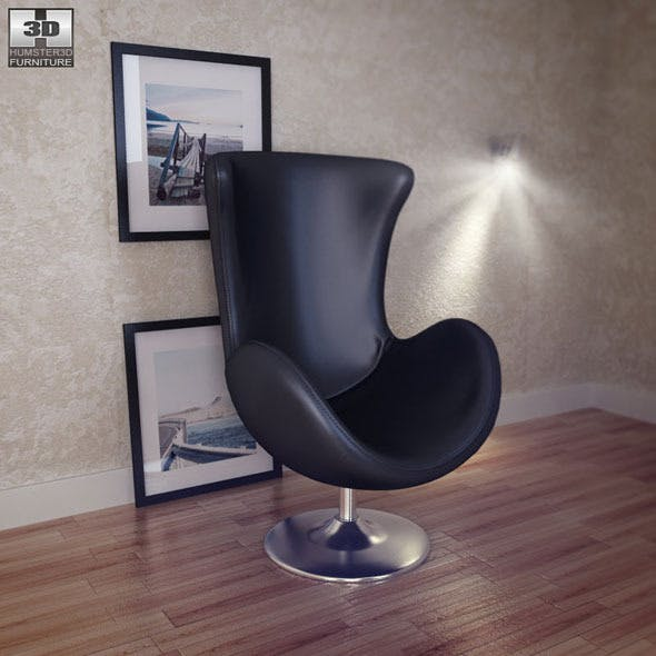 Occasional Chair - Andomeda Chair - Zuo Modern - 3DOcean Item for Sale