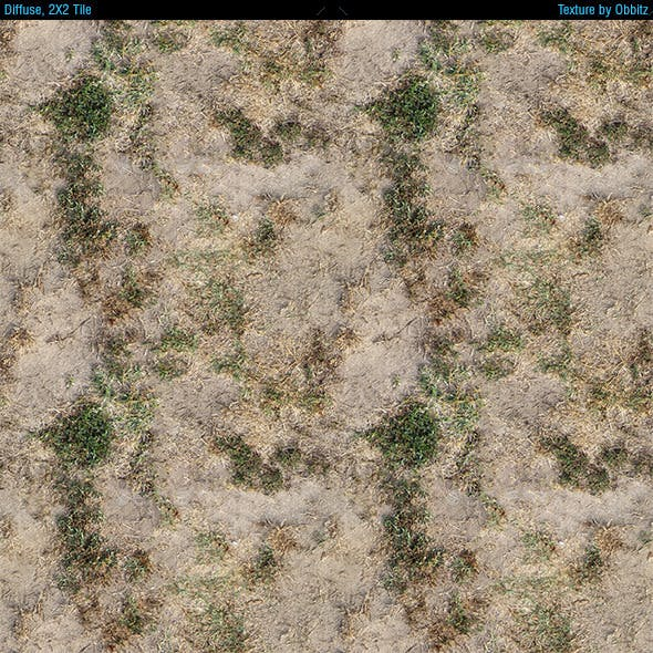 Dried Grass Ground - Pack of 3 Textures