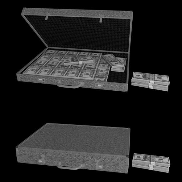 Briefcase with Money - 3DOcean Item for Sale