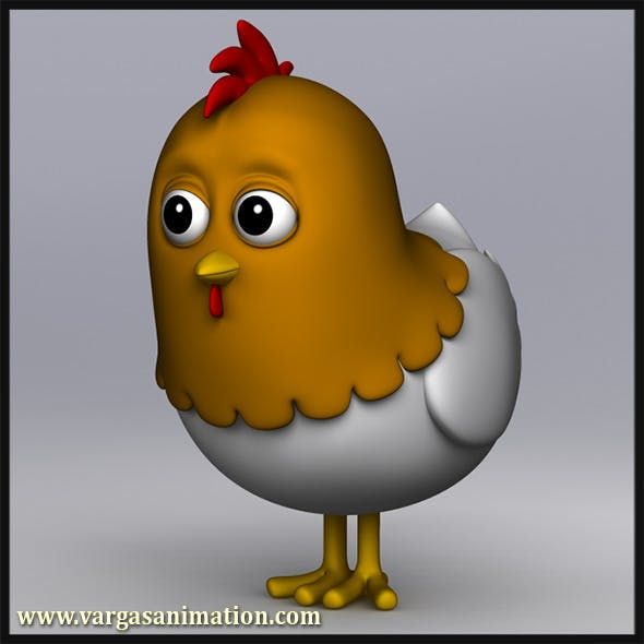 Cartoony Chicken - 3DOcean Item for Sale