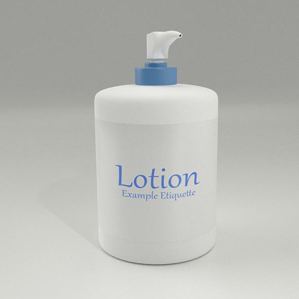 Lotion Bottle - 3DOcean Item for Sale
