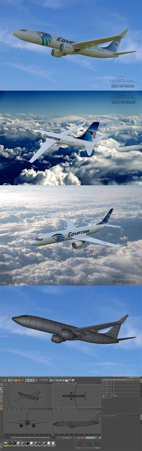 3D Airplane - 3DOcean Item for Sale
