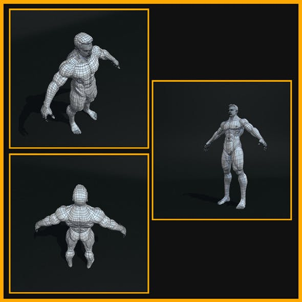 Realistic Male Body - 3DOcean Item for Sale