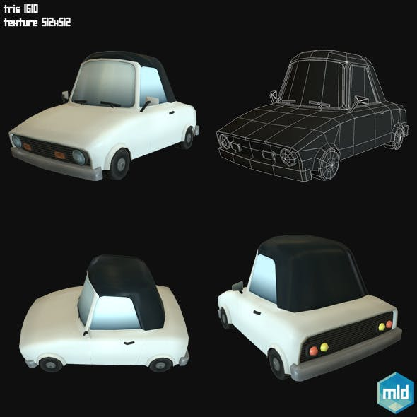 Low Poly Sport Car - 3DOcean Item for Sale