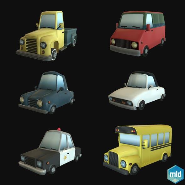 Low Poly Car Set - 3DOcean Item for Sale