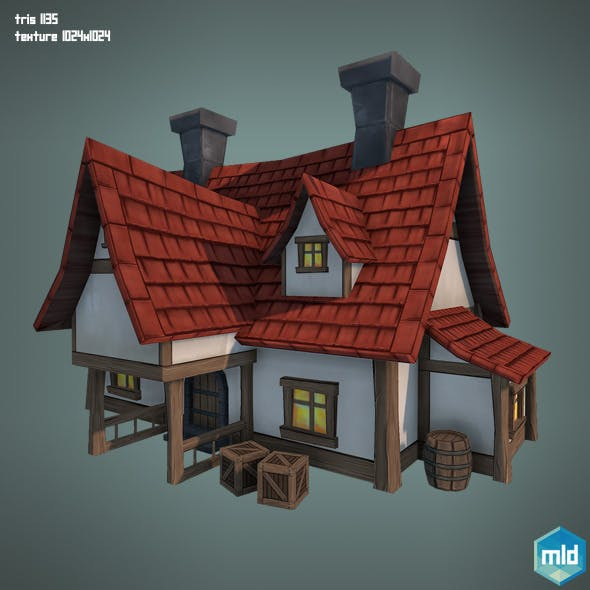 Low Poly Big House - 3DOcean Item for Sale