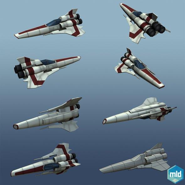 Low Poly Viper MK II - 3DOcean Item for Sale