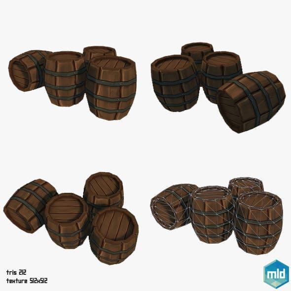 Low Poly Barrel - 3DOcean Item for Sale