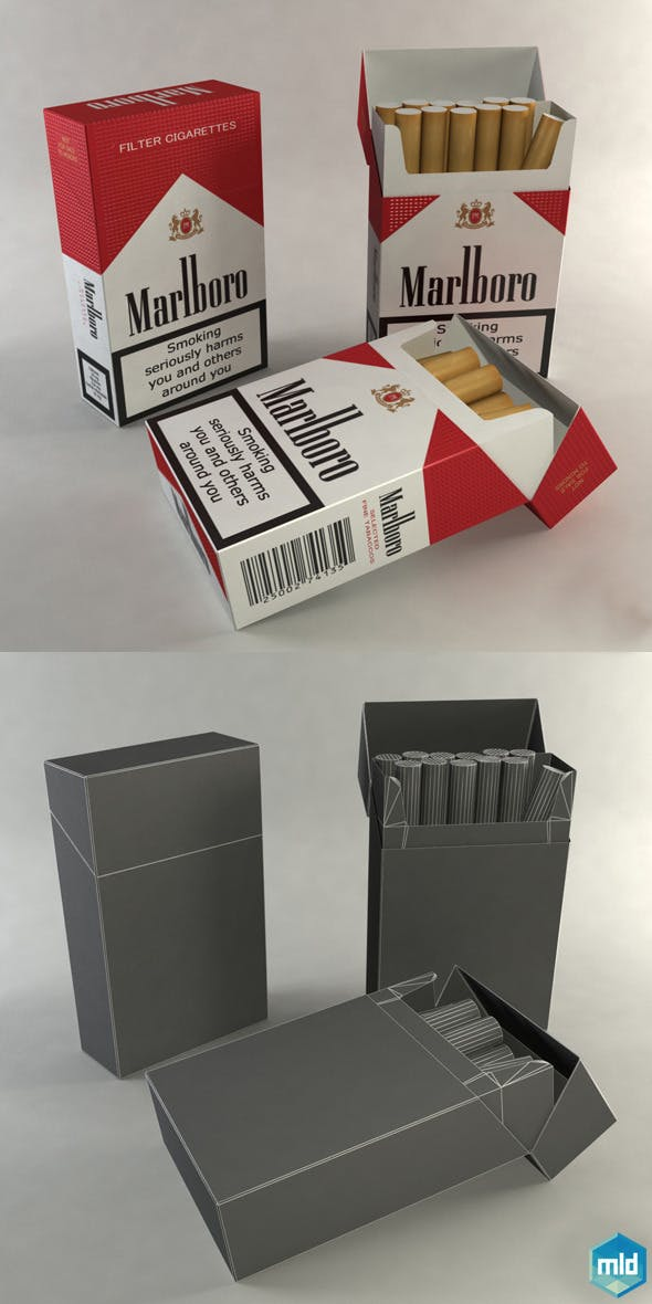 Box Cigarettes by mladenca | 3DOcean