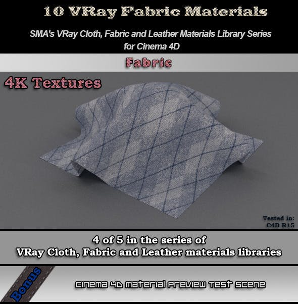 Vray Fabrics Material Pack for Cinema 4D - 3DOcean Item for Sale