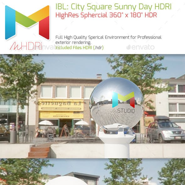 IBL : City Square Sunny Day HQ full Sperical HDRI