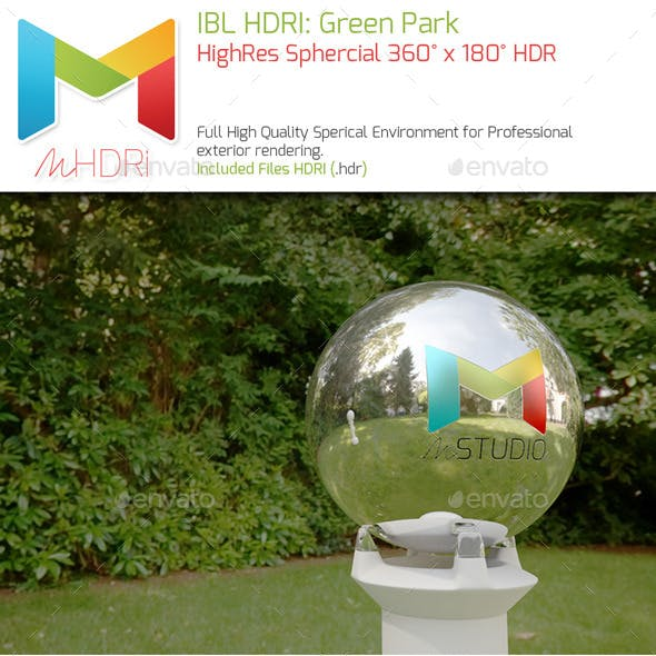 IBL HDRI: Green Garden Park