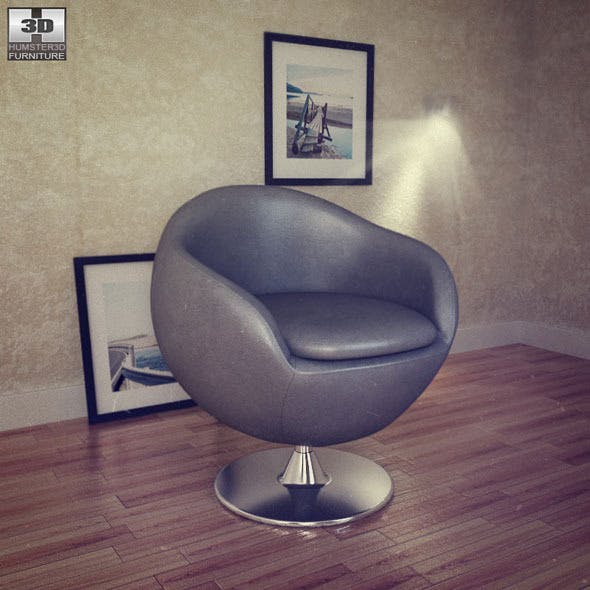 Occasional Chair - Bounce Armchair - Zuo Modern - 3DOcean Item for Sale