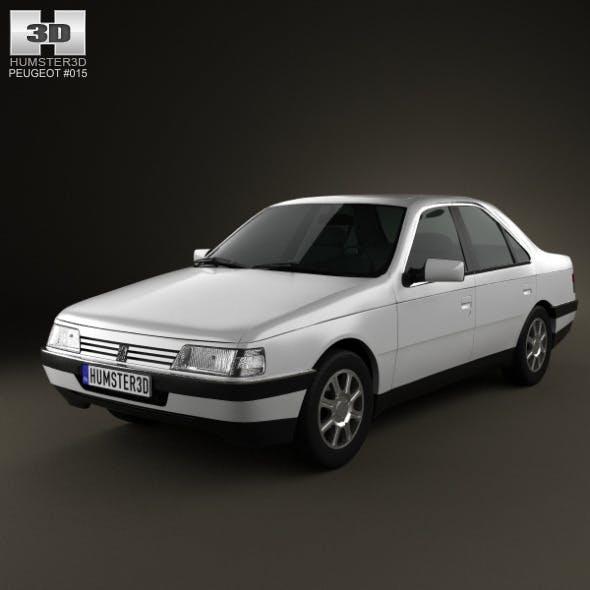 Peugeot 405 sedan 1987 - 3DOcean Item for Sale